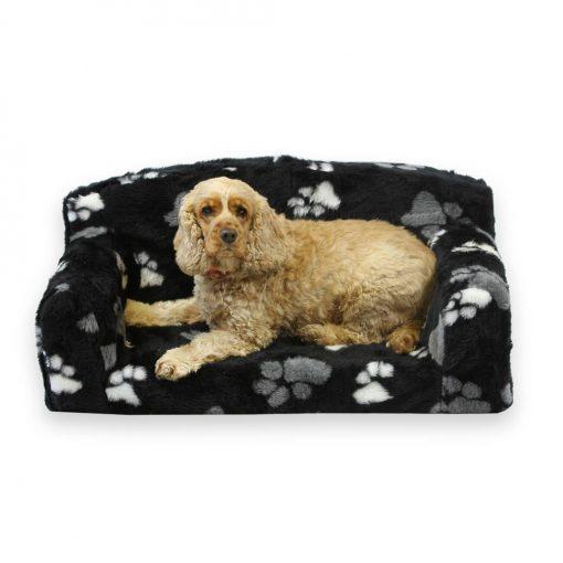 dog Sofa fur paws black