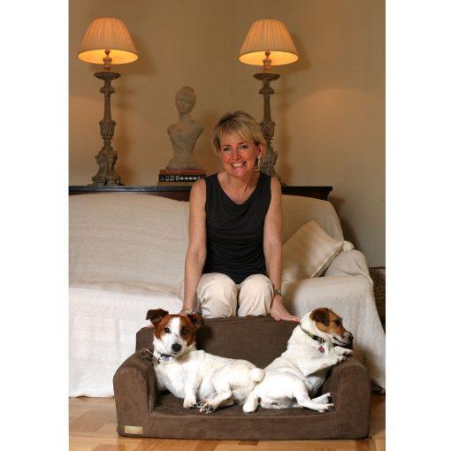 SUEDE DOG BEDS SOFAS