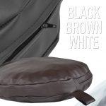 Leather brown circular pillow DOG BED
